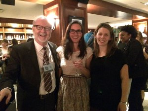 Me with my agent, Dean Cooke, and the Editorial Director at HarperCollins at the prize announcement